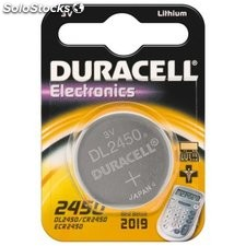 batteria al litio a bottone 3 volt cr2450 duracell 49574