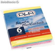 Bayeta multiusos colores - pack 6 uds - pla - 8411373001662 - 60904