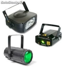 Beamz 153.786 pack iluminacion 3 moon flower + laser + flash