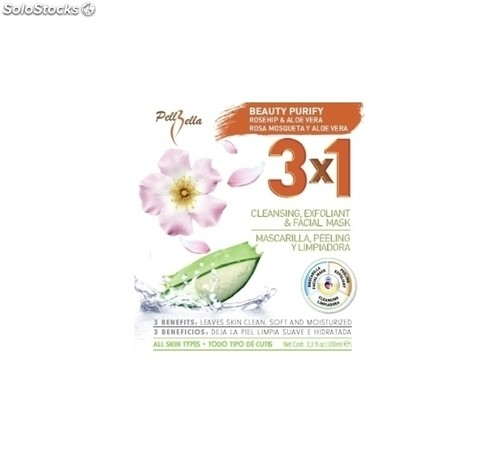 Beauty purify mascarilla+peeling+limpiadora 250ML