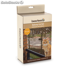 Beeztees Red de balcón para gatos transparente 8x3 m 41084