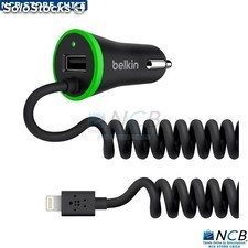 Belkin Car Charger3.4A Lightning Dual Port/Hardwired negro