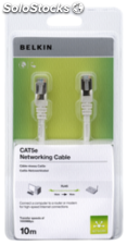 Belkin CAT 5 e cables de red 10,0 m STP hasta 350 Mhz blanco
