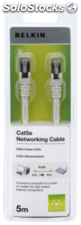 Belkin CAT 5 e cables de red 5,0 m STP hasta 350 Mhz blanco