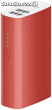 Belkin mixit Power Pack 4000 mAh 2xUSB, cable, rojo F8M979btRED
