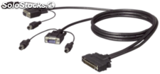 Belkin OmniView Dual-Port PS2 cable 3,0 m