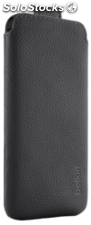 Belkin Pocket carcasa PU Piel negro iPhone 5/5s