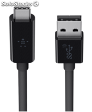 Belkin usb 3.1 SuperSpeed cable usb-c a usb-a 1m negro