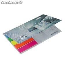 Bic® 75 mm x 75 mm adhesive notepad with flag booklet