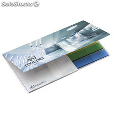 BIC® 75 mm x 75 mm Adhesive Notepad with Flag Booklet blanco