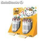 Bic expositor bolígrafos 4 colours hello kitty 40 ud colores surtidos