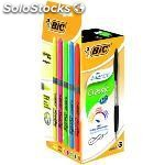 Bic pack 12 atlantis negro + 5 fluorescentes grip 933976