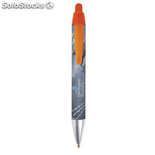 BIC® Wide Body™ Mini Digital Chrome Bolígrafo naranja translúcido