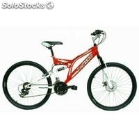 Bici 26 doble suspension freno disco del. Rojo/blanco""