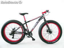 "Bicicleta 26"" fat-bike t-48 Negra/Roja"