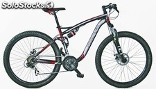 "Bicicleta 27"" MTB Full/Suspension Negra-Gris"