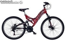 "Bicicleta Coppi 26"" btt Doble/Susp. Frenos de Disco 21 v."