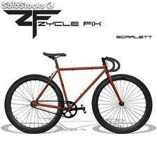 Bicicleta Fixie - Fixed Gear Granate y Negra