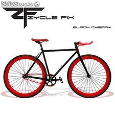 Bicicleta Fixie - Fixed Gear Negra y Roja