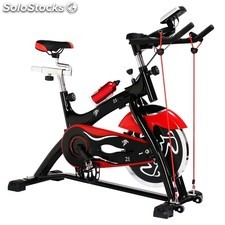 Bicicleta spinning regulable de 21 kg de disco de inercia