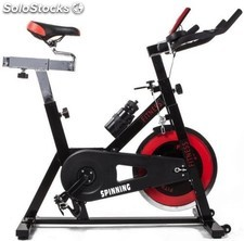 Bicicleta spinning regulable de 24 kg por correas