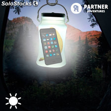 Bidón Solar con 3 luces LED hecho de Silicona Partner Adventures, impermeable y