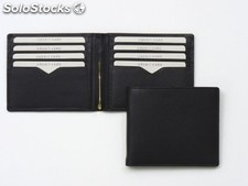 Billfold / Creditcardholder With $ Clip Black Cowh