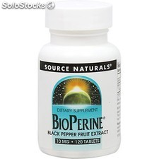 Bioperine 10 mg 120 tabs extracto pimienta negra source naturals