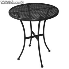 Black Steel Patterned Bistro Table 600mm Round