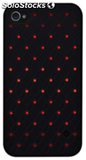 BlingMyThing Prelude iPhone 4/4S, negro/rojo Mix