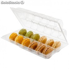 Blister 24 macarons transparent pet