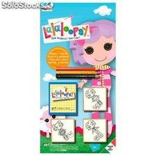 Blister 3 Sellos mas Lapices de Colores Lalaloopsy