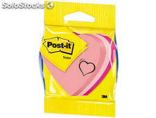 Blister papeleria 3m 2007h cubo de notas post-it troquelado corazon 3 colores