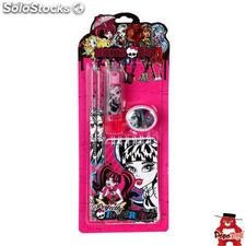 Blister papeleria Monster High 5pz