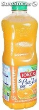 Blle pet 1,5L pur jus orange+pulpe joker