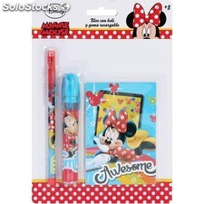 Bloc c/goma recargable y boli minnie - disney - minnie - 8433774618324 -