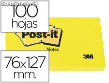 Bloc de notas adhesivas quita y pon post-it 76x127 mm con 100 hojas 655
