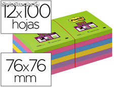 Bloc de notas adhesivas quita y pon post-it super stick ultra 76x76 mm pack de