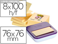 Bloc de notas adhesivas quita y pon post-it super sticky z-notes 76x76 mm