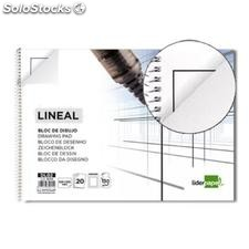 ✅ bloc dibujo liderpapel lineal espiral 230X325MM 20 hojas 130G/M2 con