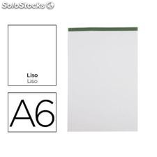 ✅ bloc notas liderpapel liso A6 80 hojas 60 g/M2 perforado sin tapa (pack