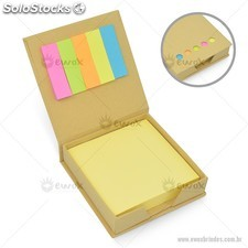 Bloco de Anotações Eco com Post-it