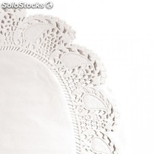 Blonda oval calada 27x18 cm blanco litos