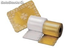 Blonda Rectangular Papel Metalizado Oro