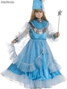 Blue fairy kids costume