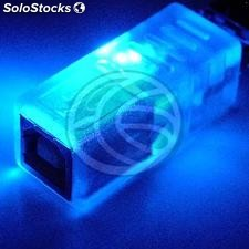 Blue led usb Adapter (am/bh) (UB36)