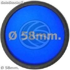 Blue photo lens filter 58 mm (EF14)