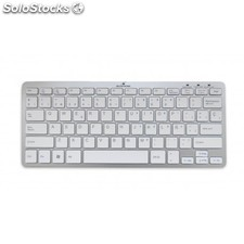 Bluestork - bs-kb-micro/bt/sp Bluetooth qwerty Español Plata, Blanco teclado
