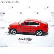 Bmw x6 rojo escala 1/43 welly coche metal miniatura
