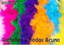 Boas de Plumas Colores Surtidos. Complementos originales photo booth, photocall